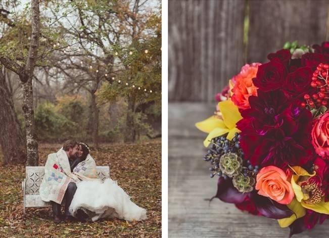 Red Autumn Rustic Wedding {Amy Zumwalt Photographers} 21