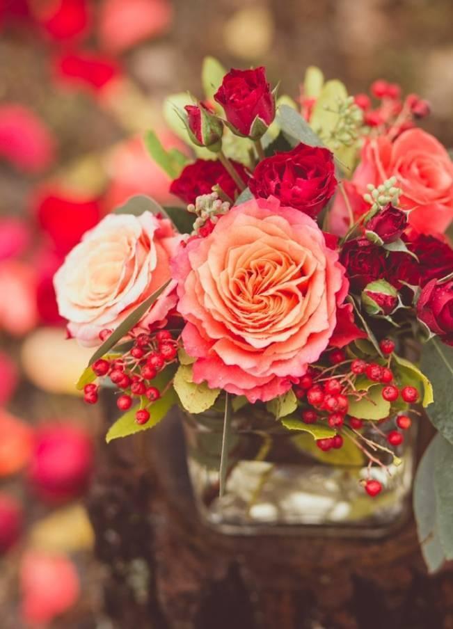 Red Autumn Rustic Wedding {Amy Zumwalt Photographers} 5
