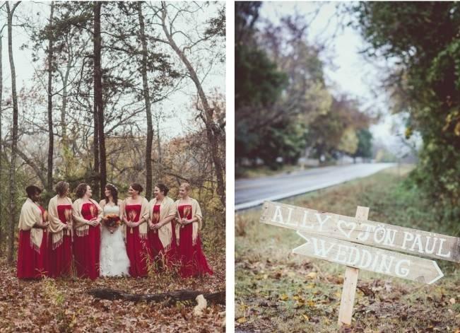 Red Autumn Rustic Wedding {Amy Zumwalt Photographers} 6