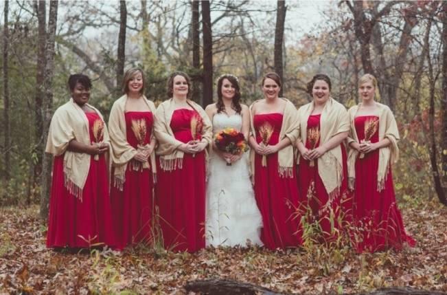 Red Autumn Rustic Wedding {Amy Zumwalt Photographers} 7