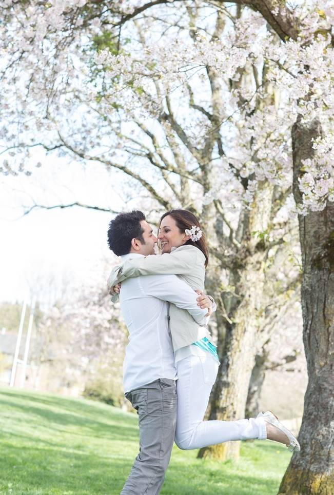 Vancouver Cherry Blossom Engagement {Maru Photography} 16