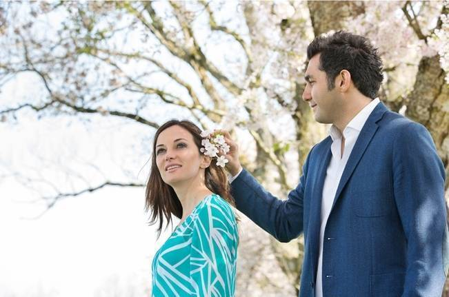 Vancouver Cherry Blossom Engagement {Maru Photography} 5