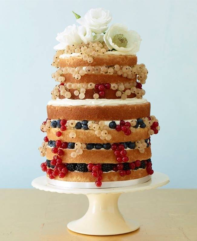 Berry Wedding Cake Ideas 6