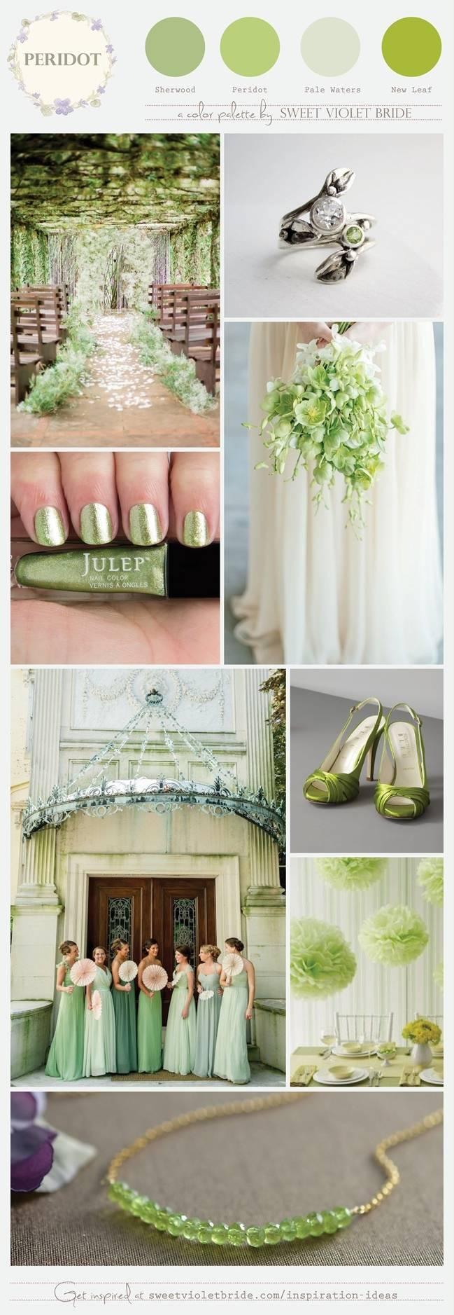 Wedding Color Palette: Peridot