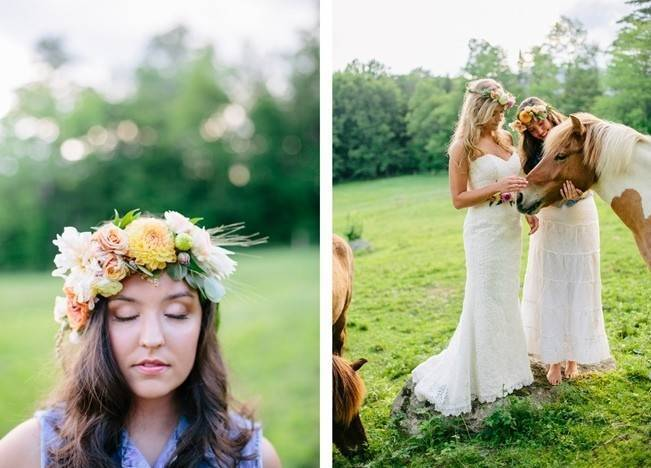 Romantic Vermont Country Wedding Style {The Light + Color} 15