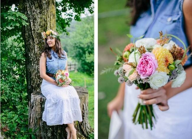 Romantic Vermont Country Wedding Style {The Light + Color} 17