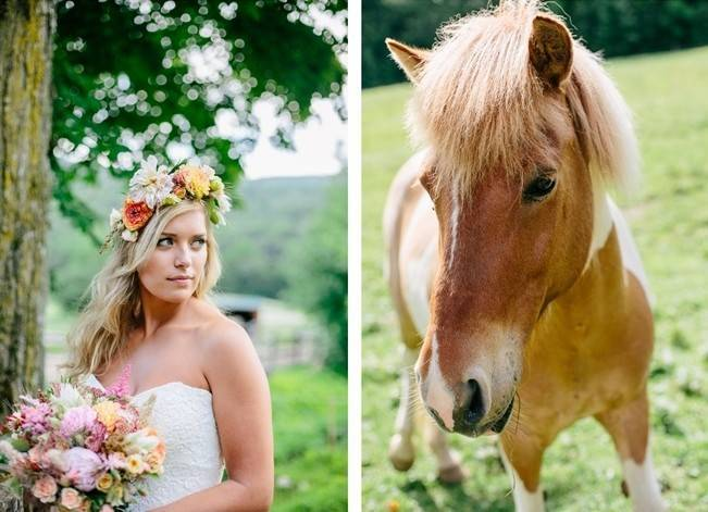 Romantic Vermont Country Wedding Style {The Light + Color} 3