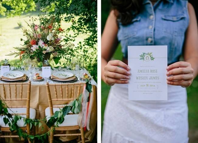 Romantic Vermont Country Wedding Style {The Light + Color} 7