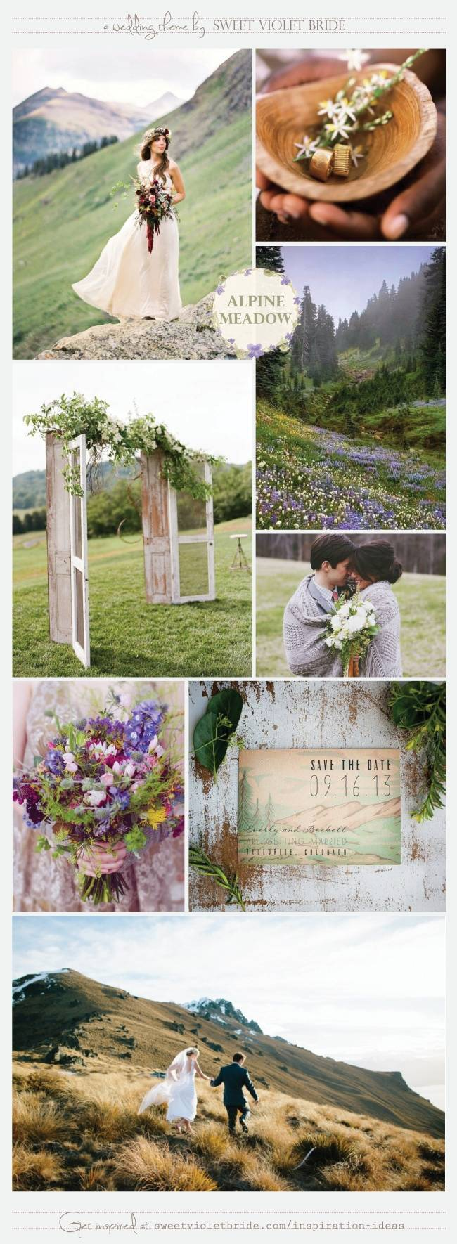Wedding Inspiration Board #29: Alpine Meadow