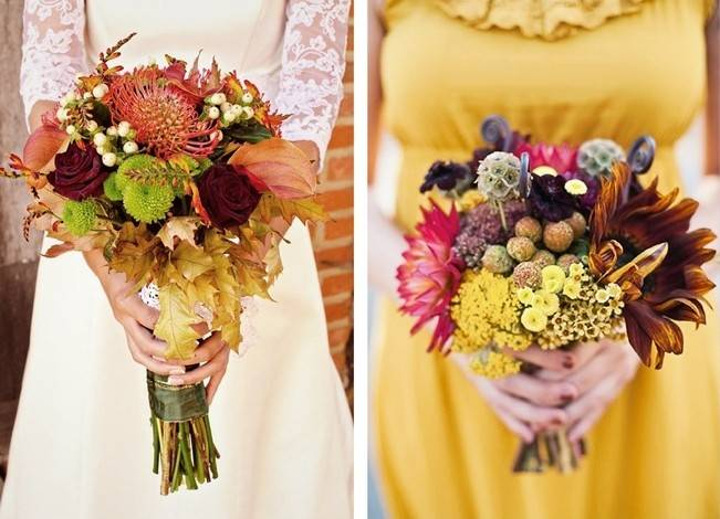 12 Rustic Autumn Wedding Bouquets to Fall For 2