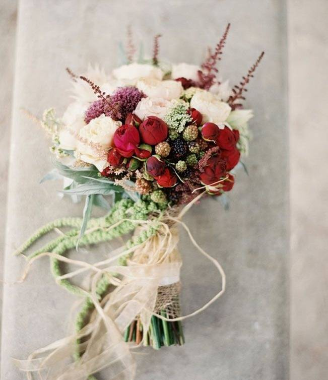 12 Rustic Autumn Wedding Bouquets to Fall For 3