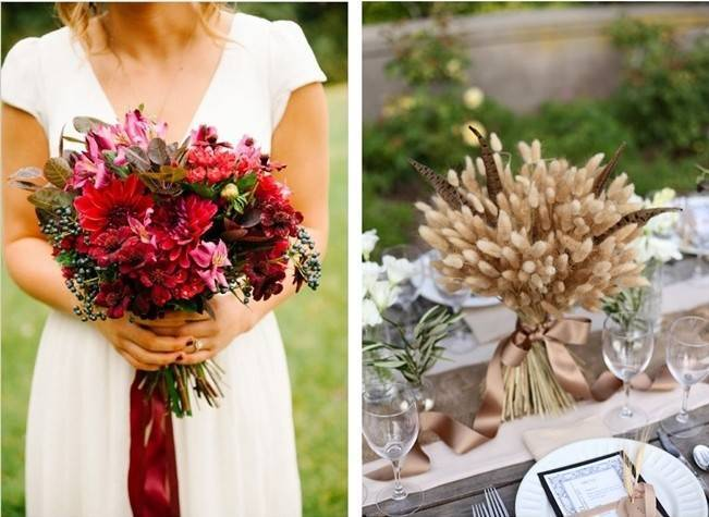 12 Rustic Autumn Wedding Bouquets to Fall For 8