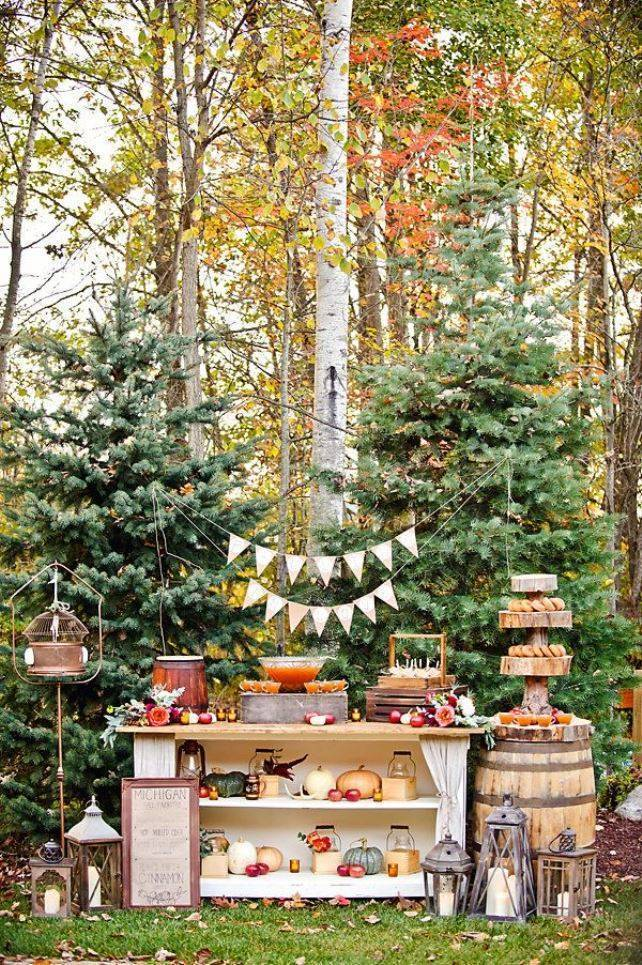 Autumn-Inspired Wedding Dessert Tables 11