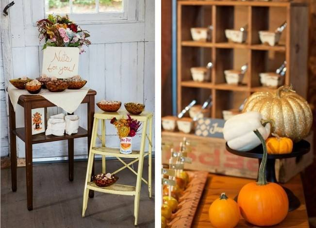 Autumn-Inspired Wedding Dessert Tables 2
