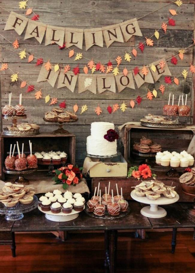 Autumn-Inspired Wedding Dessert Tables 3