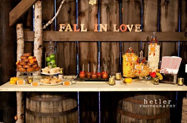Autumn-Inspired Wedding Dessert Tables 6