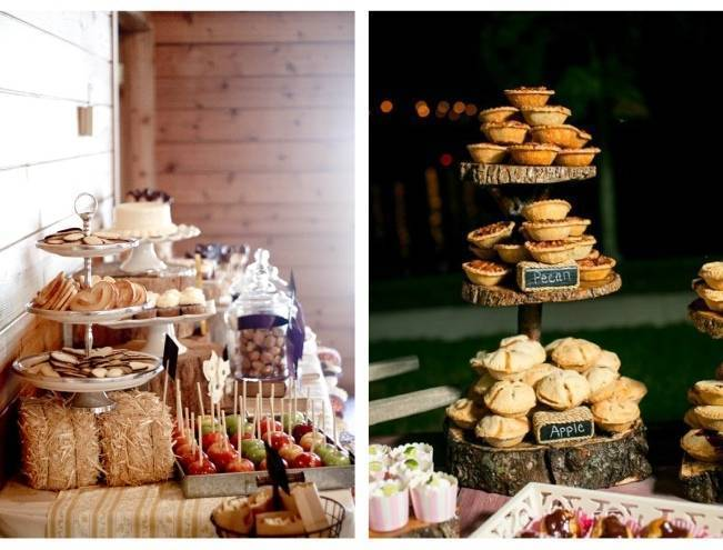 Autumn Inspired Wedding Dessert Tables