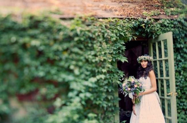 Ethereal Secret Garden Bridal Shoot {Joyeuse Photography} 7