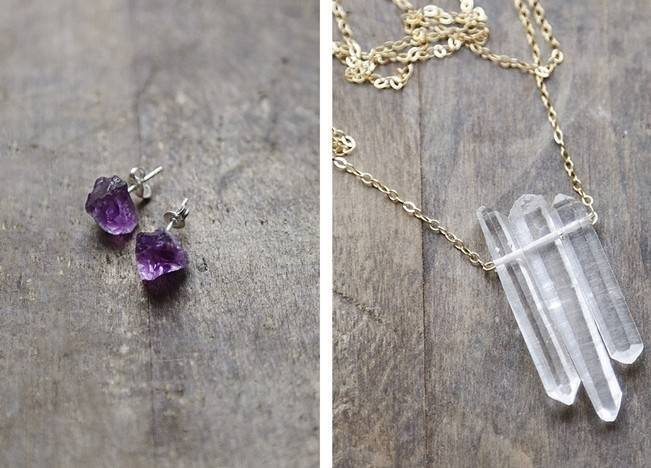 Raw Stone Jewelry for Your Bridal Party 2