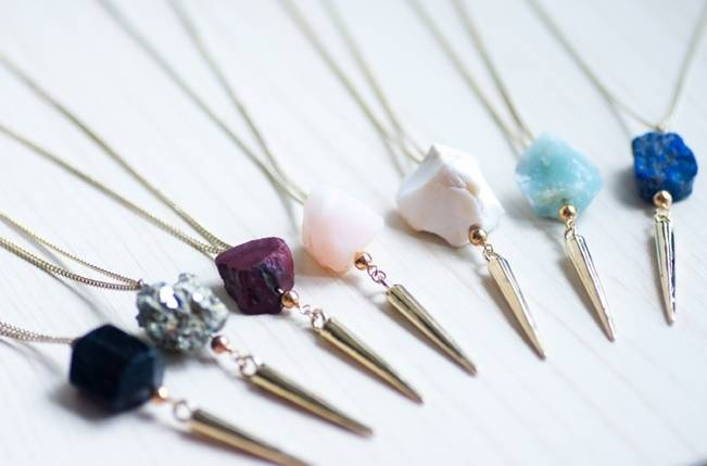 Raw Stone Jewelry for Your Bridal Party 3