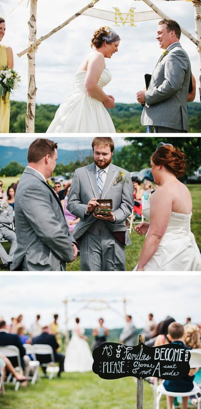 Rustic Yellow + Blue Vermont Wedding {Colette Kulig Photography} 10