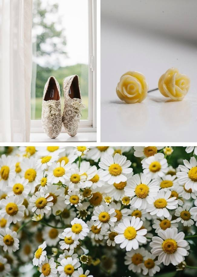 Rustic Yellow + Blue Vermont Wedding {Colette Kulig Photography} 2