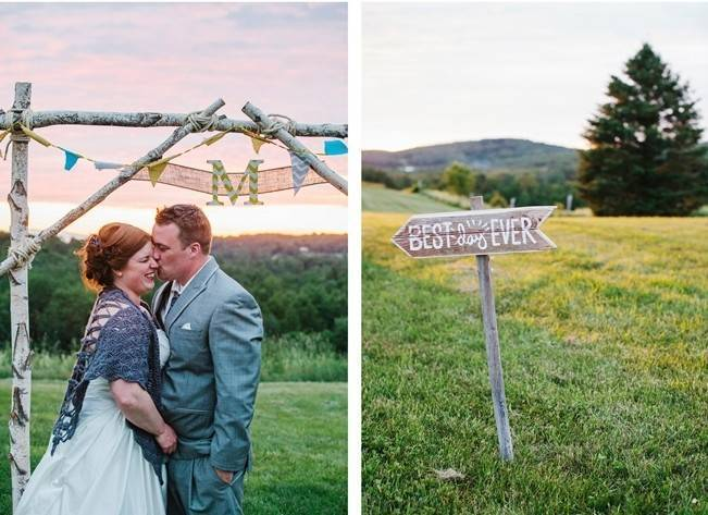 Rustic Yellow + Blue Vermont Wedding {Colette Kulig Photography} 28