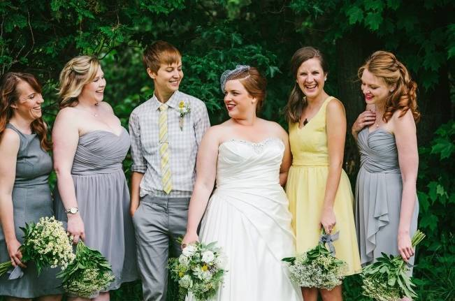 Rustic Yellow + Blue Vermont Wedding {Colette Kulig Photography} 4