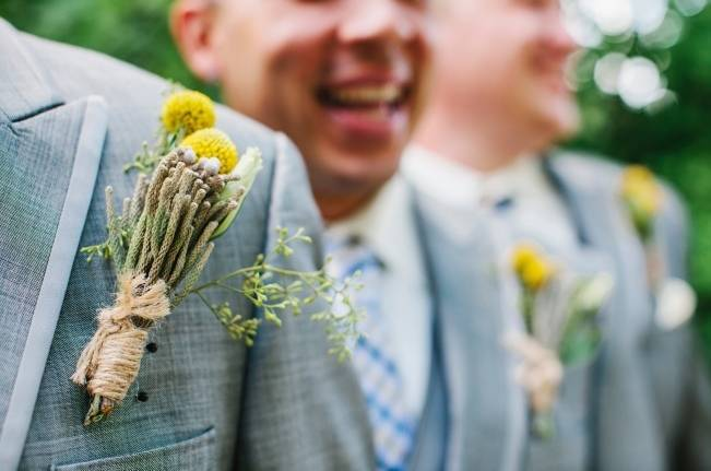 Rustic Yellow + Blue Vermont Wedding {Colette Kulig Photography} 8