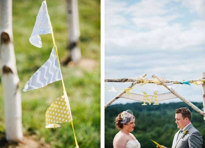 Rustic Yellow + Blue Vermont Wedding {Colette Kulig Photography} 9