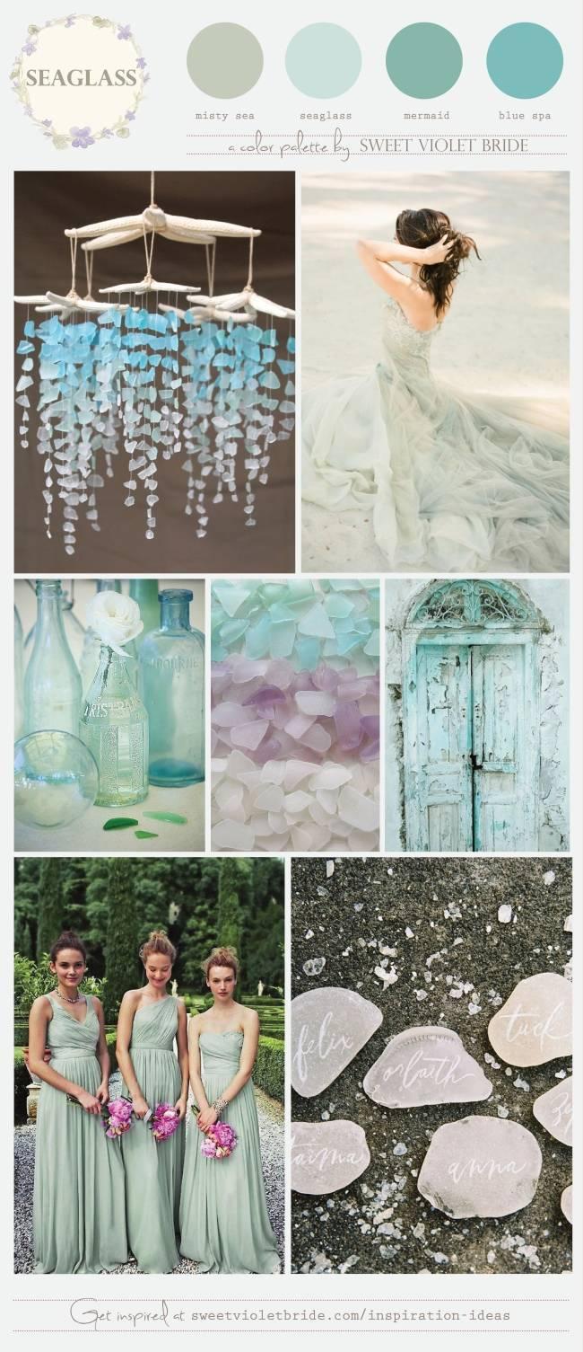 seaglass wedding palette sweet violet bride