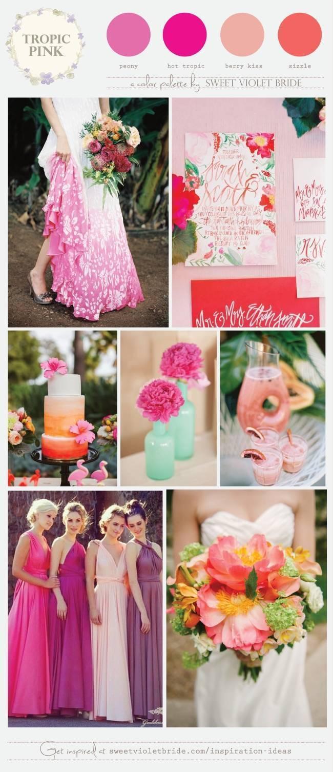 Tropical Pink Wedding Palette