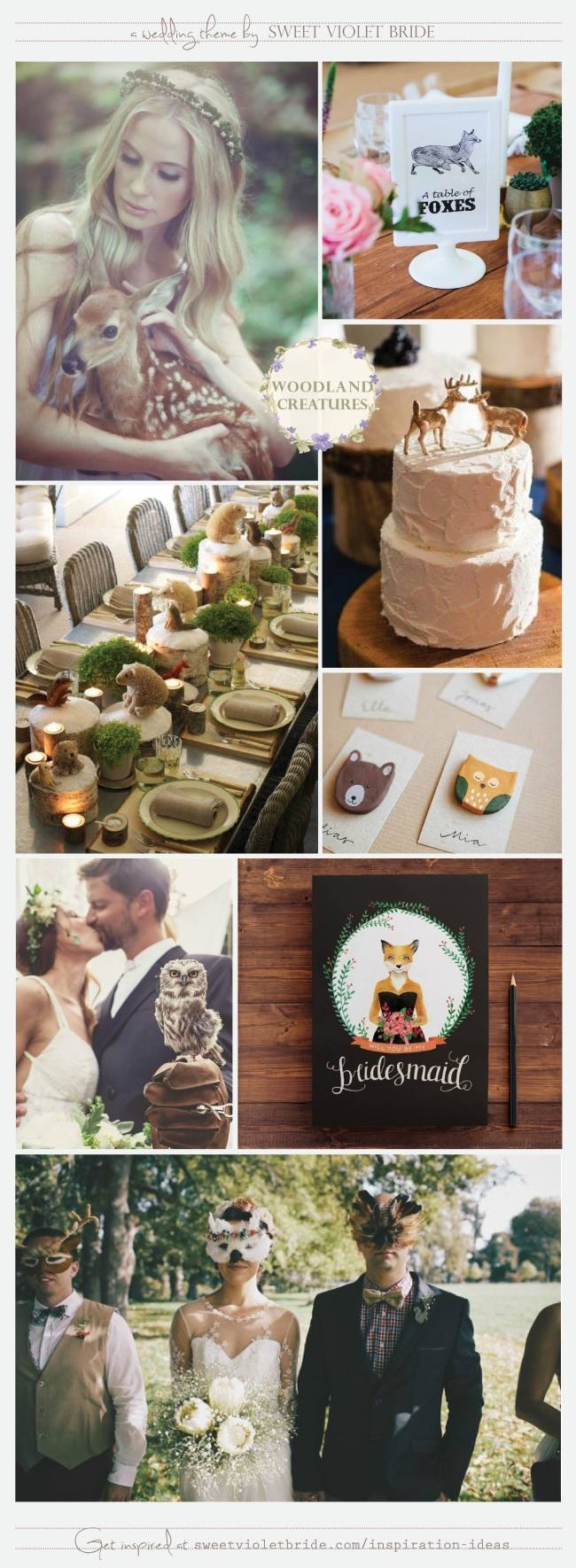 Wedding Inspiration Board #30: Woodland Creatures