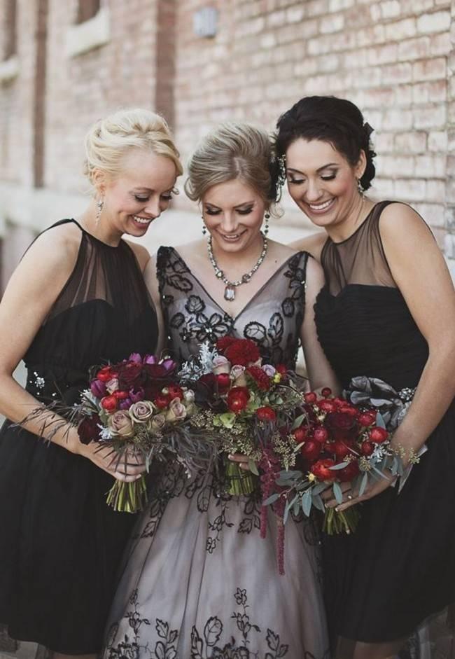 Alternative Autumn Wedding Dresses - Brides in Black 2