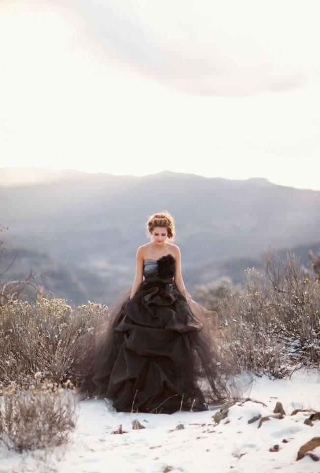Alternative Autumn Wedding Dresses - Brides in Black 3