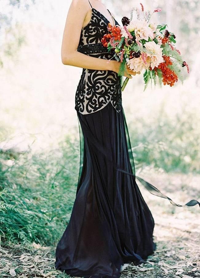 Alternative Autumn Wedding Dresses - Brides in Black 6