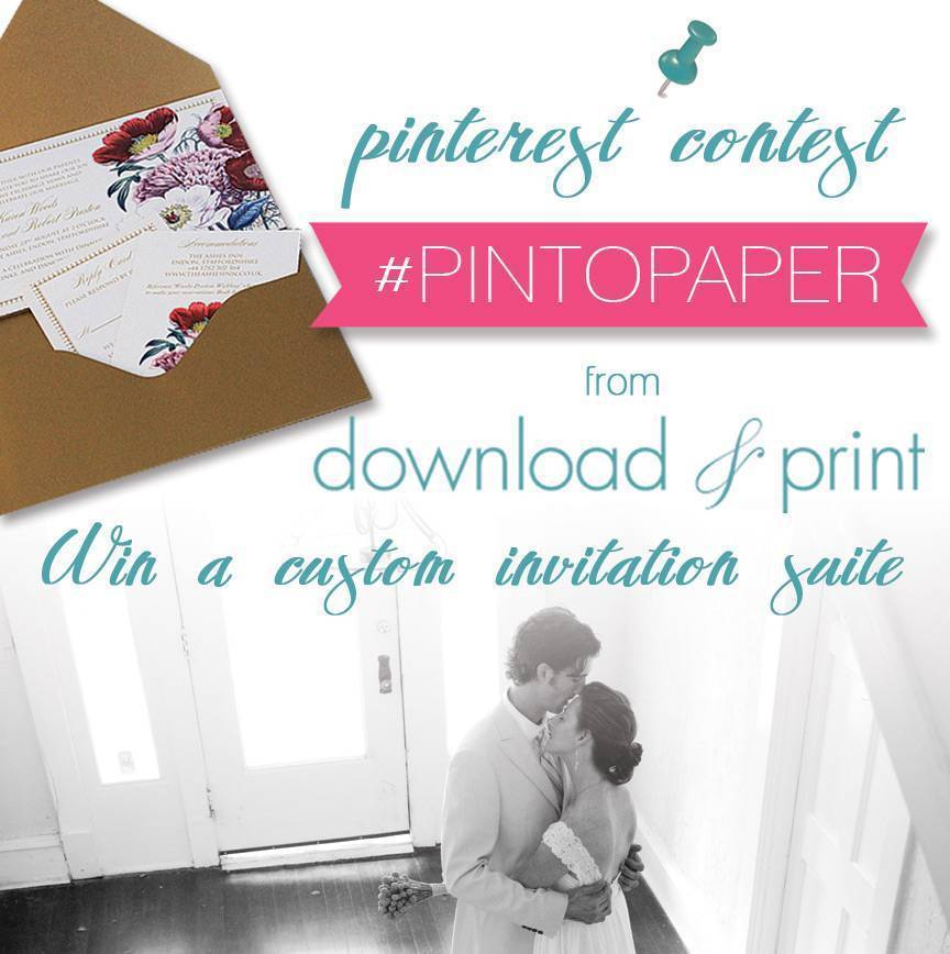 Win a Custom Wedding Invitation Suite! Pin to Win!