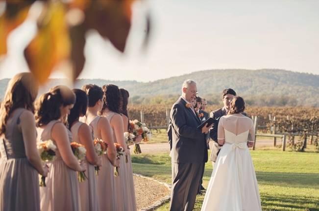 Orange and Gray Autumn Vineyard Wedding {Audra Wrisley Photography} 12
