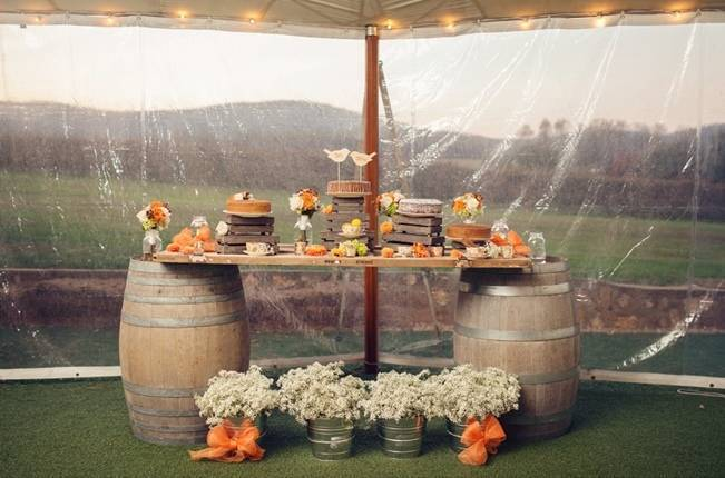 Orange and Gray Autumn Vineyard Wedding {Audra Wrisley Photography} 21
