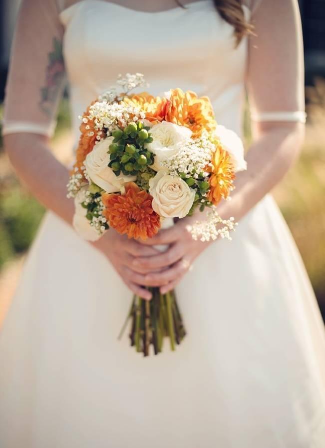 Orange and Gray Autumn Vineyard Wedding {Audra Wrisley Photography} 3
