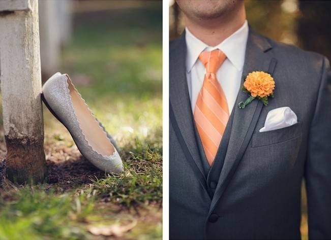 Orange and Gray Autumn Vineyard Wedding {Audra Wrisley Photography} 4