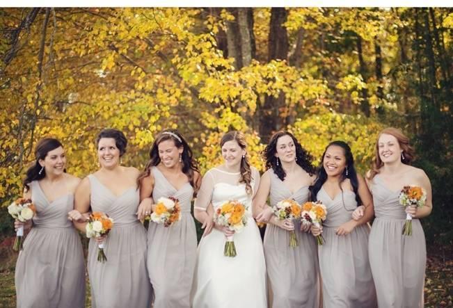Orange and Gray Autumn Vineyard Wedding {Audra Wrisley Photography} 7