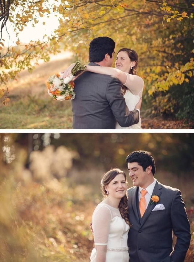 Orange and Gray Autumn Vineyard Wedding {Audra Wrisley Photography} 9