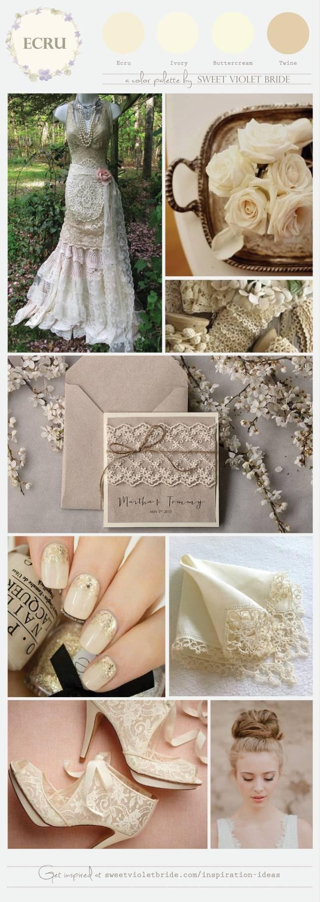 Ecru Wedding Color Palette