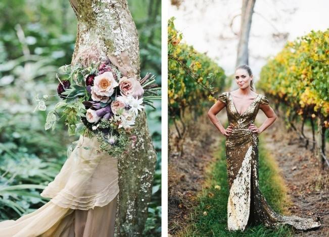Gold Wedding Dress Inspiration 10
