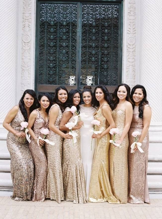 Gold Wedding Dress Inspiration 15