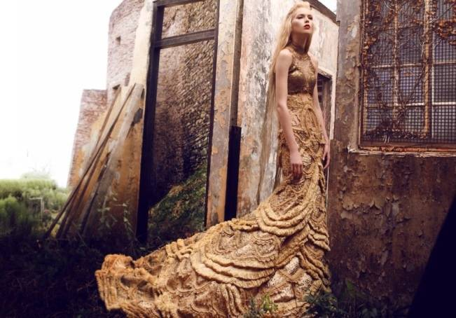 Gold Wedding Dress Inspiration 3