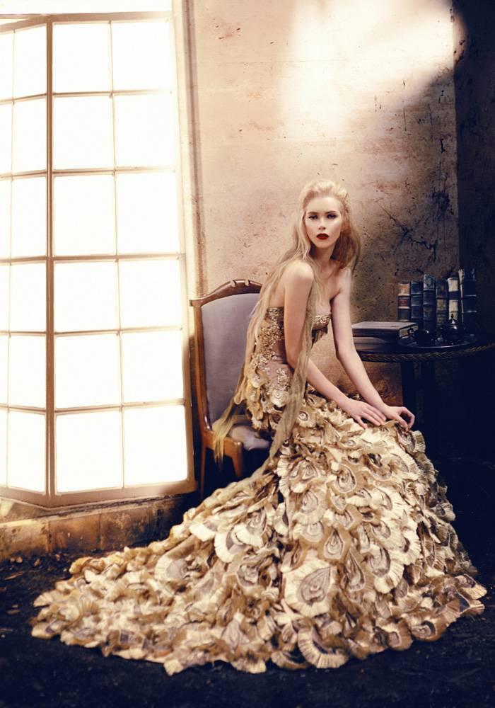 Gold Wedding Dress Inspiration 5