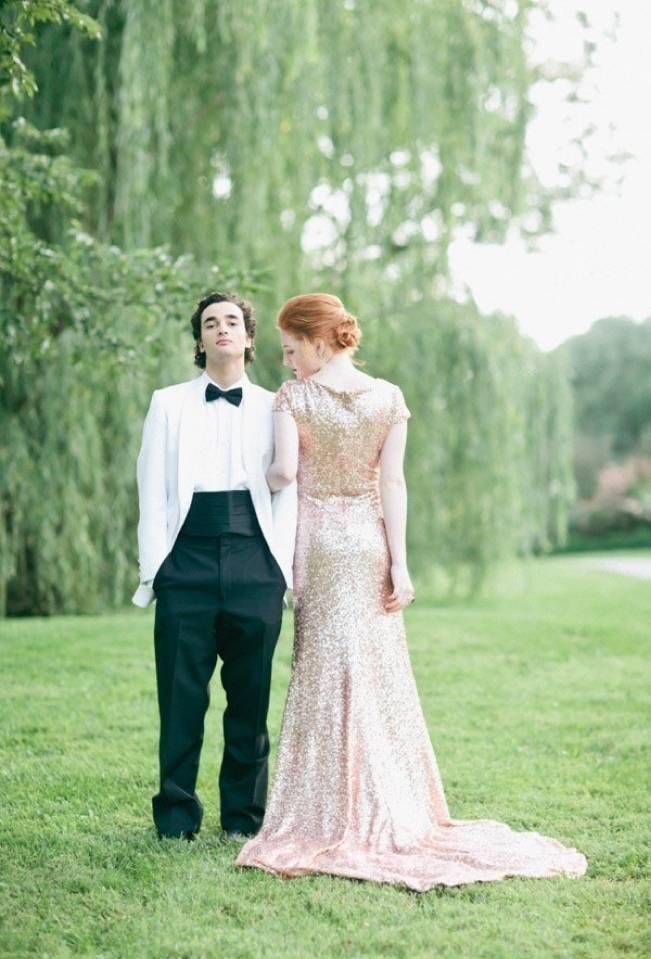 Gold Wedding Dress Inspiration 7