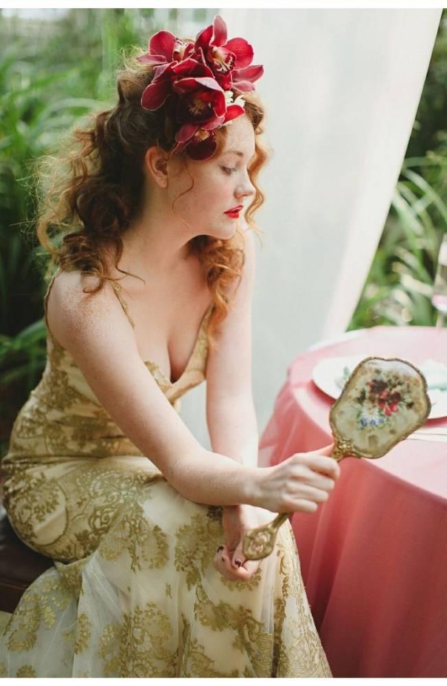 Gold Wedding Dress Inspiration 8